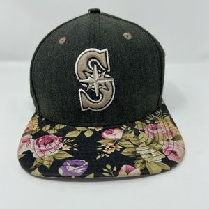 Seattle Mariners Floral Flat Bill Snap Back Hat